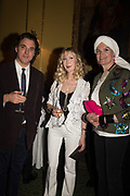 ALEXANDRA NEWLEY; BASIA BRIGGS; LADY EMMA KITCHENER FELLOWES,, Launch hosted by Quartet books  of Madam, Where Are Your Mangoes? by Sir Desmond de Silva at The Carlton Club. London. 27 September 2017.