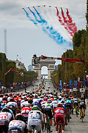 Illustration peloton, Scenery, Champs Elysees, Arc de Triomphe, patrouille de France during the 105th Tour de France 2018, Stage 21, Houilles - Paris Champs-Elysees (115 km) on July 29th, 2018 - Photo Luca Bettini / BettiniPhoto / ProSportsImages / DPPI