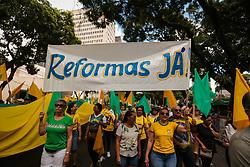 "May 26, 2019 - BeléM, Brazil - BELÉM, PA - 26.05.2019: ATO PRÃ"" BOLSONARO EM BELÉM - Ató pro Bolsonaro takes the streets of Belém do Pará this Sunday, 26. The demonstration ended at Av Doca de Souza Franco. (Credit Image: © Filipe Bispo/Fotoarena via ZUMA Press)"