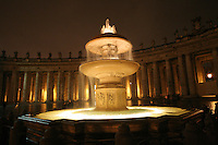 Water fountain in Saint Peters Square Vatican Rome Italy