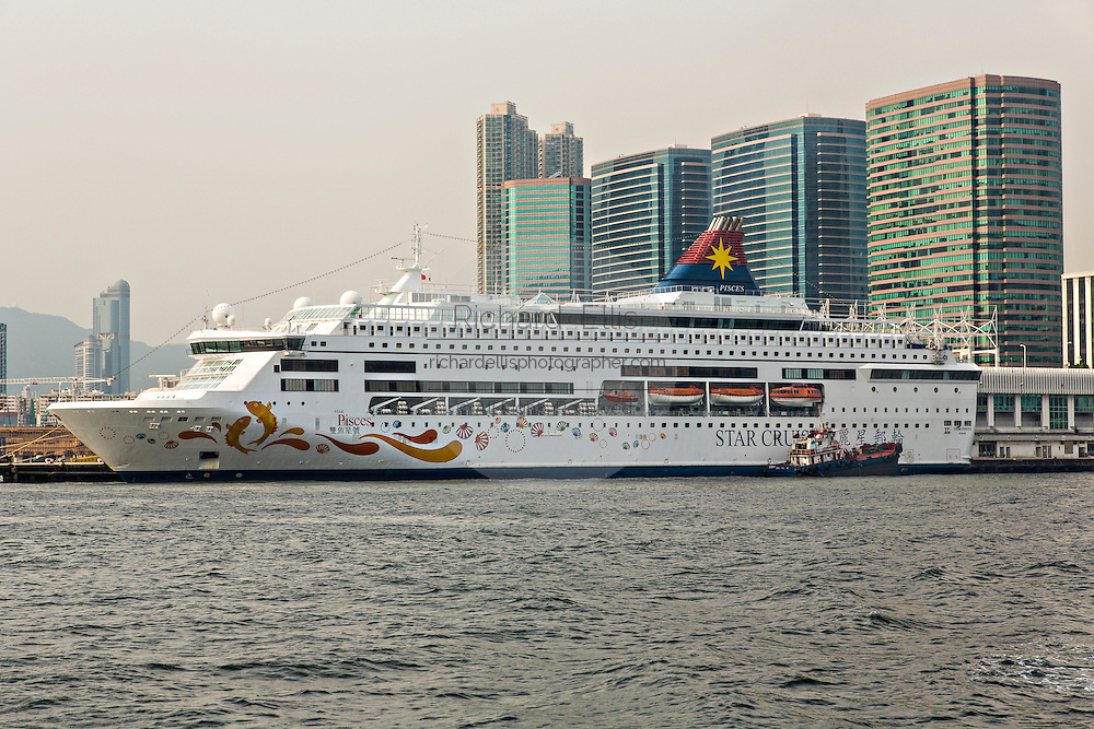 Star Cruises ship the Star Pisces docked at the Cruise Ship Terminal Hong Kong.