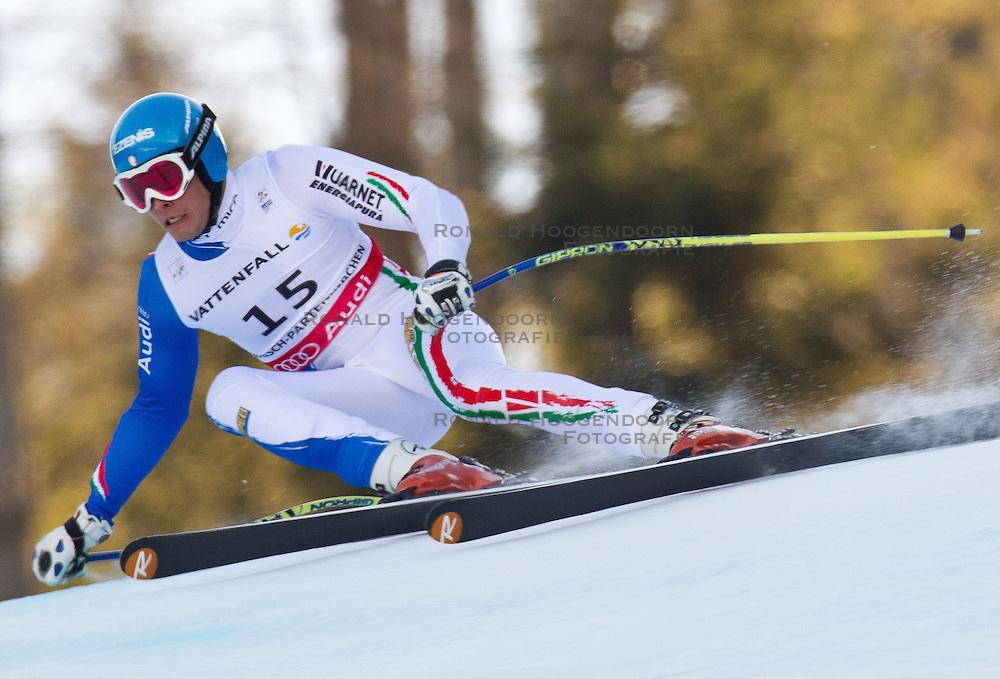 09-02-2011 SKIEN: FIS ALPINE WORLD CHAMPIONSSHIP: GARMISCH PARTENKIRCHEN<br /> Christof Innerhofer (ITA) World Champion during Men Super G, Fis Alpine Ski World Championships <br /> **NETHERLANDS ONLY**<br /> ©2011-WWW.FOTOHOOGENDOORN.NL/EXPA/ J. Groder
