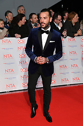 Pete Wicks attending the National Television Awards 2018 held at the O2, London. Photo credit should read: Doug Peters/EMPICS Entertainment