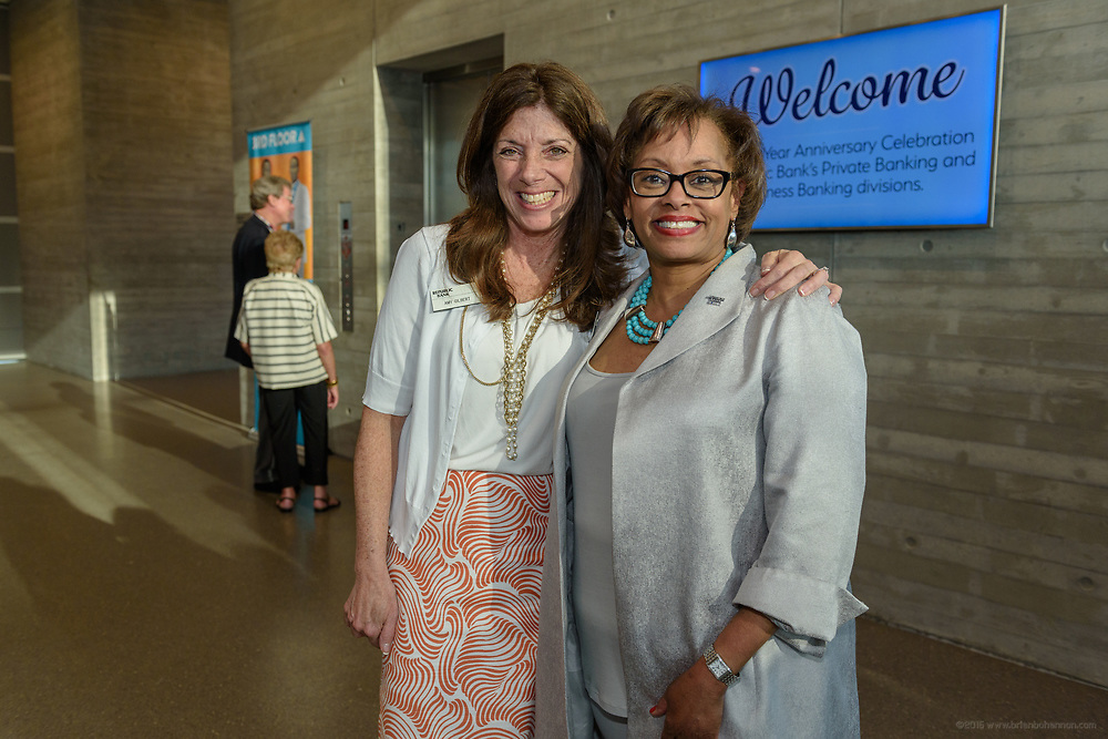Amy Gilbert and Carolle Jones Clay at the 10-year anniversary celebration of Republic Bank's Private Banking and Business Banking divisions Wednesday, May 17, 2017, at the Speed Art Museum in Louisville, Ky. (Photo by Brian Bohannon)