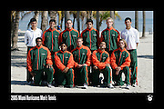 2005 Miami Hurricanes Men's Tennis Team Photo