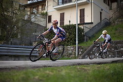 Megan Guarnier (Boels-Dolmans Cycling Team) stays at the front of the race during the technical descent in the third, short lap of the Trofeo Alfredo Binda - a 123.3km road race from Gavirate to Cittiglio on March 20, 2016 in Varese, Italy.