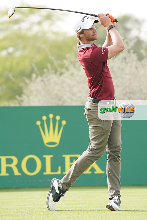 Thomas Detry (BEL) in action during the final round of the Commercial Bank Qatar Masters 2020, Education City Golf Club , Doha, Qatar. 08/03/2020<br /> Picture: Golffile | Phil Inglis<br /> <br /> <br /> All photo usage must carry mandatory copyright credit (© Golffile | Phil Inglis)