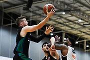 Auckland Super City Rangers Clayton Wilson goes for the basket during a match against the Taylor Hawks.<br /> Super City Rangers v Taylor Hawks, NBL NZ, Trusts Arena, Auckland, New Zealand. 7 July 2018. © Copyright Image: Marc Shannon / www.photosport.nz.