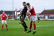 Wimbledon forward Kwesi Appiah (9) in action  during the The FA Cup 3rd round match between Fleetwood Town and AFC Wimbledon at the Highbury Stadium, Fleetwood, England on 5 January 2019.