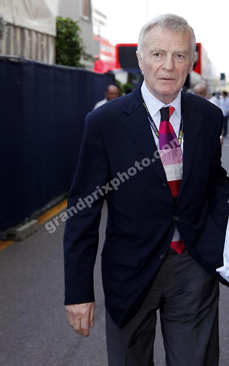 FIA president Max Mosley  before the 2009 Monaco Grand Prix. Photo: Grand Prix Photo