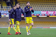 AFC Wimbledon midfielder Anthony Wordsworth (40) clapping after win during the EFL Sky Bet League 1 match between Southend United and AFC Wimbledon at Roots Hall, Southend, England on 16 March 2019.