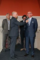"Anthony M. Kies (NED) and John van de Laar (NED) of World Dressage Masters, Leo Lambreghts (BEL) president of Jumping Mechelen.<br /> Pressconference ""Vlaanderens Kerstjumping"" - Mechelen 2012<br /> © Dirk Caremans"