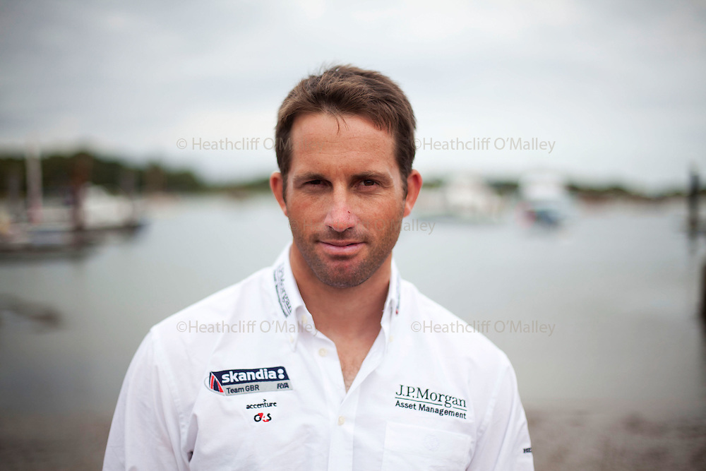 May0033467 . Daily Telegraph..British sailor and 3 times Olympic Gold medallist Ben Ainslie photographed in Lymington, Hampshire...Lymington 15 August 2011. ............Not Getty.Not Reuters.Not AP.Not Reuters.Not PA