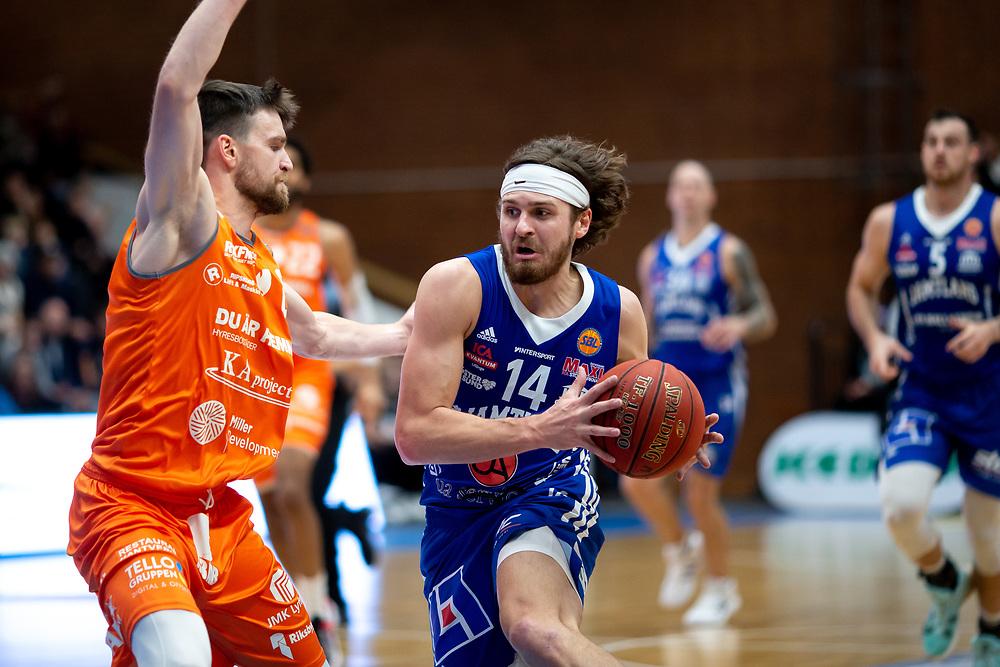 ÖSTERSUND 20211007<br /> Jämtlands Chase Harler under torsdagens match i basketligan mellan Jämtland Basket och Norrköping Dolphins.<br /> Foto: Per Danielsson / Projekt.P