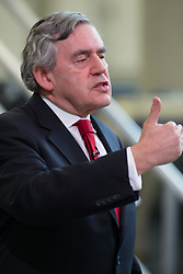 © Licensed to London News Pictures. 11/05/2017. Coventry, UK. Former Prime Minister GORDON BROWN delivering a speech on business and the automotive industry at Coventry University.  Photo credit: Dave Warren/LNP