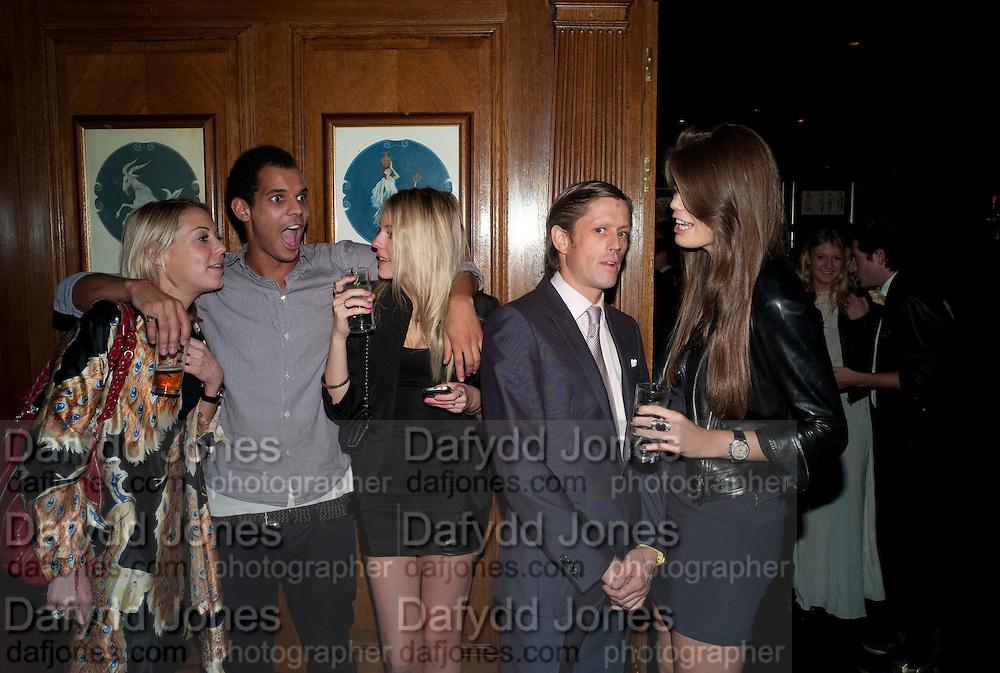 SAM MACLEAN; FRANCESCA BOSCHETTO, Tatler Little Black book party. Tramps. 3 November 2010. -DO NOT ARCHIVE-© Copyright Photograph by Dafydd Jones. 248 Clapham Rd. London SW9 0PZ. Tel 0207 820 0771. www.dafjones.com.