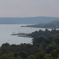 Clouds over Lake Balaton at Balatonakarattya (about 90 km South-West of capital city Budapest), Hungary on July 14, 2018. ATTILA VOLGYI