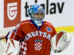 Vanja Belic of Croatia at IIHF Ice-hockey World Championships Division I Group B match between National teams of Croatia and Great Britain, on April 17, 2010, in Tivoli hall, Ljubljana, Slovenia. Great Britain defeated Croatia 4-1. (Photo by Matic Klansek Velej / Sportida)