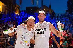 Michael Murauer and Florian Schnetzer of Austria at Beach Volleyball Challenge Ljubljana 2014, on August 2, 2014 in Kongresni trg, Ljubljana, Slovenia. Photo by Matic Klansek Velej / Sportida.com
