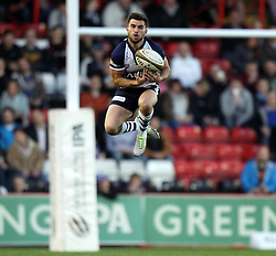 Bristol's Jack Wallace catches a kick - Photo mandatory by-line: Robbie Stephenson/JMP - Mobile: 07966 386802 - 17/04/2015 - SPORT - Rugby - Bristol - Ashton Gate - Bristol Rugby v Jersey - Greene King IPA Championship