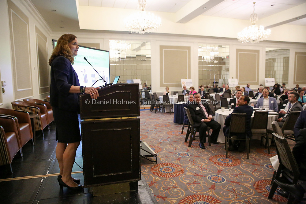 (5/22/19, FRAMINGHAM, MA) Secretary of Labor and Workforce Rosalin Acosta speaks during the The MetroWest Economic Research Center's 27th annual conference at the Sheraton in Framingham on Wednesday. [Daily News and Wicked Local Photo/Dan Holmes]