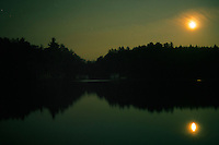 Night on Little Lake Joe in Muskoka, Ontario, Canada.