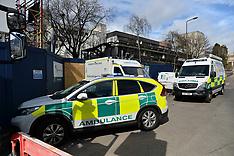 Injured worker rescued from University building site, Edinburgh, 18 April 2018