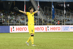October 8, 2017 - Kolkata, West Bengal, India - Iraqi Goal Keeper Ali Ibadi enjoys Iraq goal during the FIFA U 17 World Cup India 2017 Group F matches in Kolkata. Player of Mexico and Iraq in action during the FIFA U 17 World Cup India 2017 Group F match on October 9, 2017 in Kolkata (Credit Image: © Saikat Paul/Pacific Press via ZUMA Wire)