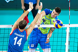 Klemen Cebulj of Slovenia during friendly volleyball match between Slovenia and Serbia in Arena Stozice on 2nd of September, 2019, Ljubljana, Slovenia. Photo by Grega Valancic / Sportida