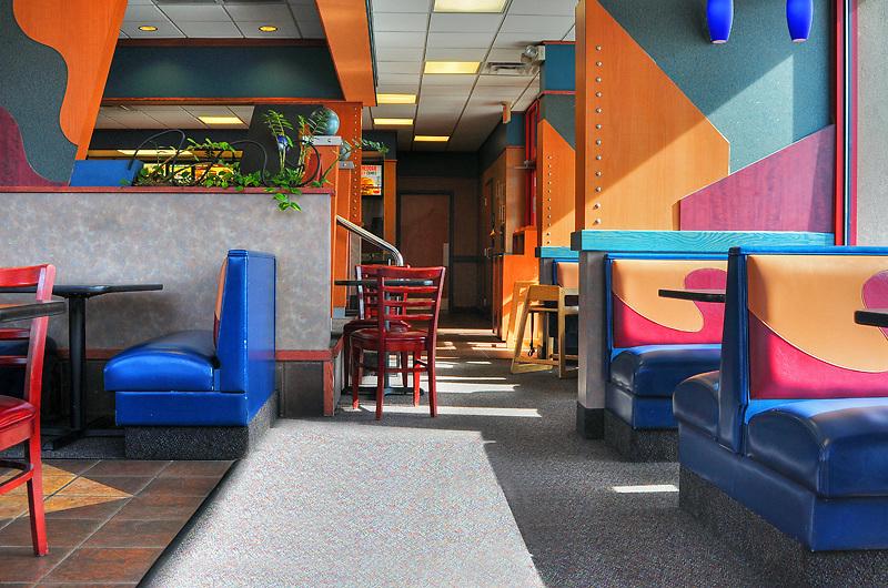 Interior Arby's restaurant