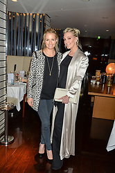 Left to right, SOFIA BLUNT and OLIVIA BUCKINGHAM at a dinner to celebrate the start of The Season held at Rivea, Bulgari Hotel, 171 Kightsbridge, London on 18th May 2016.