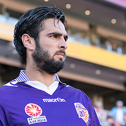 BRISBANE, AUSTRALIA - OCTOBER 30: Rhys Williams of the Glory enters the field before the round 4 Hyundai A-League match between the Brisbane Roar and Perth Glory at Suncorp Stadium on October 30, 2016 in Brisbane, Australia. (Photo by Patrick Kearney/Brisbane Roar)