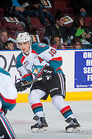 KELOWNA, CANADA - FEBRUARY 10: Nick Merkley #10 of the Kelowna Rockets skates against the Vancouver Giants on February 10, 2017 at Prospera Place in Kelowna, British Columbia, Canada.  (Photo by Marissa Baecker/Shoot the Breeze)  *** Local Caption ***