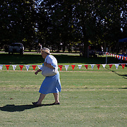 'A Day at the Polo'<br /> An elderly lady arrives at the ground during the International Polo Test match between Australia and England at the Windsor Polo Club, Richmond, Sydney, Australia on March 29, 2009. Australia won the match 8-7.  Photo Tim Clayton