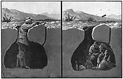 Sectional view of a typical Boer entrenchment. 2nd Boer War 1899-1902