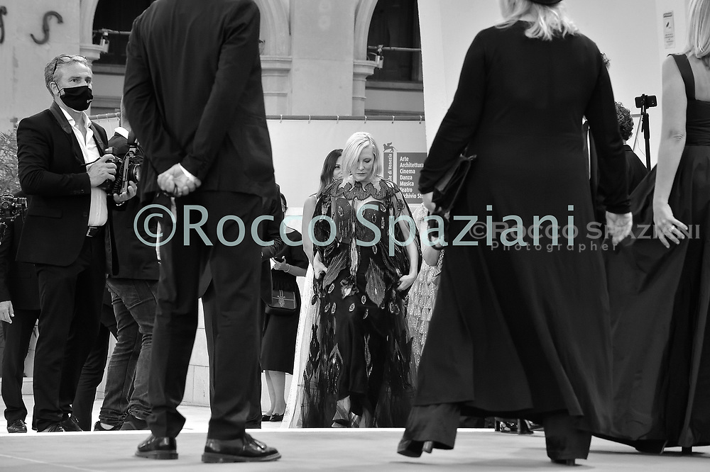 VENICE, ITALY - SEPTEMBER 12: Cate Blanchett walk the red carpet ahead of closing ceremony at the 77th Venice Film Festival on September 12, 2020 in Venice, Italy.<br /> (Photo by Rocco Spaziani)