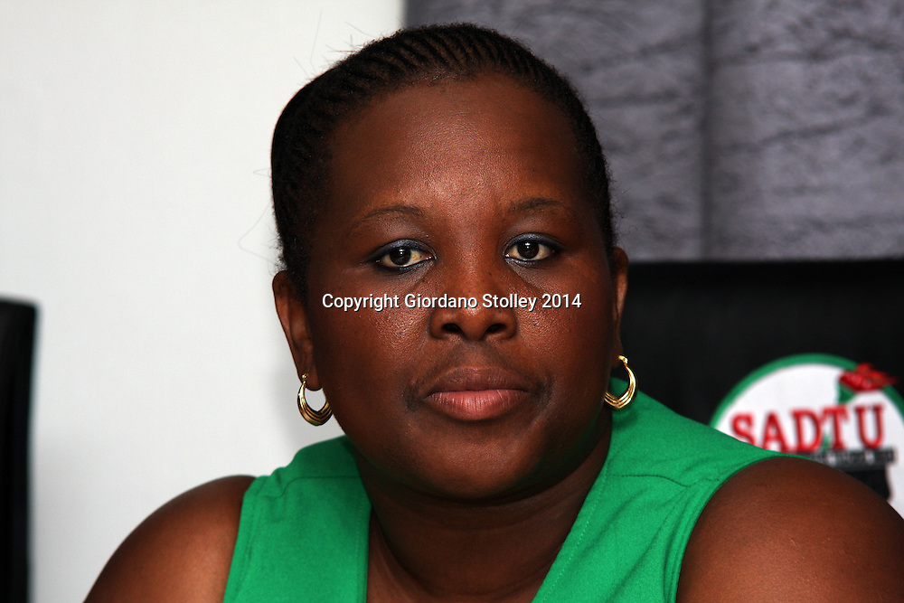 DURBAN - 25 November 2014 - Zodwa Zwane, the acting KwaZulu-Natal provincial chairperson for the SA Democratic Teachers Union at a press conference, where the union welcomed the education department's decision to establish a committee to investigate irregular expenditure. Picture: Allied Picture Press/APP