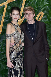 Kaia Jordan Gerber and Presley Gerber attending The Fashion Awards 2018 In Partnership With Swarovski at Royal Albert Hall in London, UK on December 10, 2018. Photo by Aurore Marechal/ABACAPRESS.COM