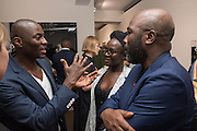 ECKOW EKSHUN; LYNETTE YIADOM-BOAKYE;; DURO OROWY, Preview of DANDYISM Photographers Gallery, Ramillies Place, Thursday 14 July 2016,