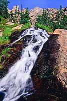 Cascading Tyndall Creek about half way between Dream Lake and Emerald Lake.  Rocky Mountain National Park, Colorado.