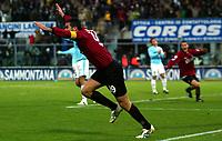 Livorno 11-12-2005<br /> Livorno Lazio<br /> Campionato  Serie A Tim 2005-2006<br /> nella  foto  esultanza di Lucarelli<br /> Foto Snapshot / Graffiti