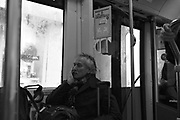 Passengers on Public transport, Paris, France