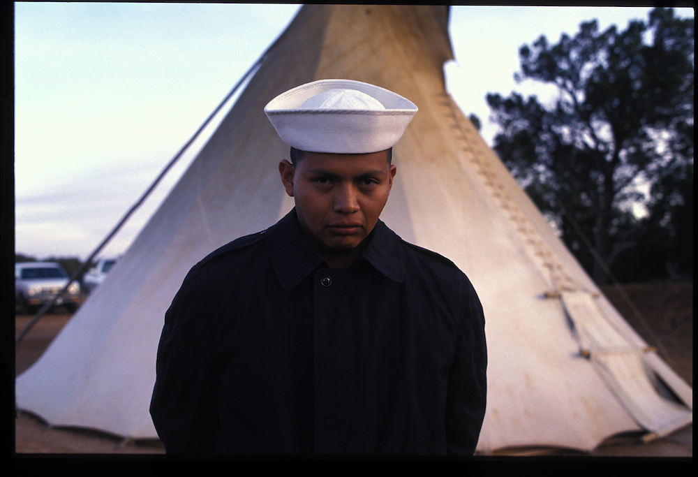 """About to face the dangers of a world of high-powered machinery, young Navy sailor Rex Harvey turns to an arduous peyote ceremony for strength.  """"I need your prayers and songs to guide me through the next four years,"""" he told his loved ones."""
