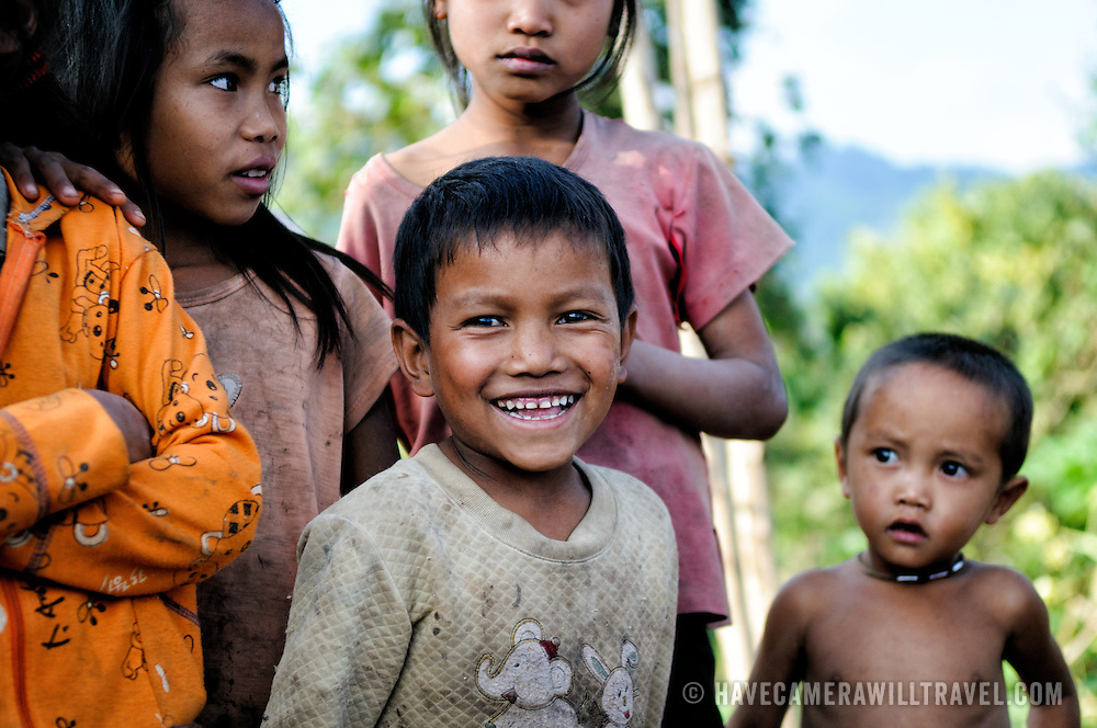 Village children in Luang Namtha province in northern Laos.