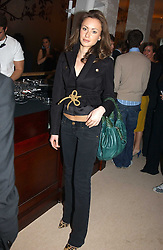 CAMILLA AL FAYED at a party to celebrate the opeing of the new Paul & Joe Boutique at 134 Sloane Street, London SW1 on 14th April 2005.<br /><br />NON EXCLUSIVE - WORLD RIGHTS