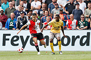Feyenoord-player Mohamed El Hankouri (L) and Excelsior-player Jeffry Fortes (R) during the Dutch football Eredivisie match between Feyenoord and Excelsior at De Kuip Stadium in Rotterdam, on August 19th, 2018 - Photo Stanley Gontha / Pro Shots / ProSportsImages / DPPI