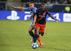October 2, 2018 - Sinsheim, Germany - Raheem Starling 7; seen in action during the UEFA Champions League group F football match between TSG 1899 Hoffenheim and Manchester City at the Rhein-Neckar-Arena. (Credit Image: © Elyxandro Cegarra/SOPA Images via ZUMA Wire)
