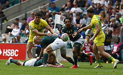 May 26, 2019 - Twickenham, England, United Kingdom - Selvyn Davids of Australia.during The HSBC World Rugby Sevens Series 2019 London 7s Cup Quarter Final Match 29 between South Africa and Australia at Twickenham on 26 May 2019. (Credit Image: © Action Foto Sport/NurPhoto via ZUMA Press)