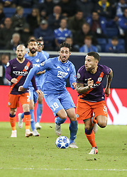 October 2, 2018 - Sinsheim, Germany - Ishak Befodli 19; seen in action during the UEFA Champions League group F football match between TSG 1899 Hoffenheim and Manchester City at the Rhein-Neckar-Arena. (Credit Image: © Elyxandro Cegarra/SOPA Images via ZUMA Wire)