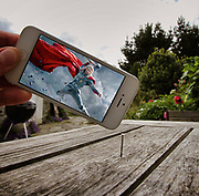 Photographer uses iPhone to capture his favorite movie characters in everyday settings<br /> <br /> Just when you thought we had worked out everything that could be done with an iPhone ... <br /> <br /> An amateur artist has created a series of hilarious images combining iconic film scenes with everyday locations all over the world.<br /> <br /> History teacher Francois Dourlen, from Cherbourg in France, has used stills of pop culture everything - from cult movies to old faithful TV favorites like The Simpsons and Baywatch, to new hits Minions - to bring this unique artwork to life.<br /> <br /> Amazingly, Dourlen admits it all started accidentally.<br /> <br /> '(The first picture) was originally just a joke for my friends,' Dourlen said<br /> <br /> 'A lot of them liked it, so I did another…and a lot of people liked it! So I did another, and another.' <br /> ©Francois Dourlen/Exclusivepix Media